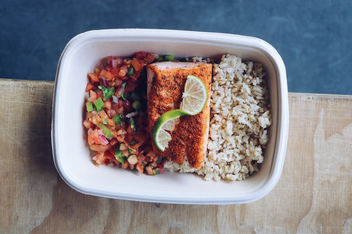 Cajun Salmon (Wednesday) - Gluten Free Meals - Honey Bee Meals | Fresh Food Delivery Service Toronto