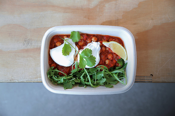 Egg Chickpea Shakshuka - Healthy Breakfast & Snack - Honey Bee Meals | Healthy Prepared Meals & Food Delivery Toronto