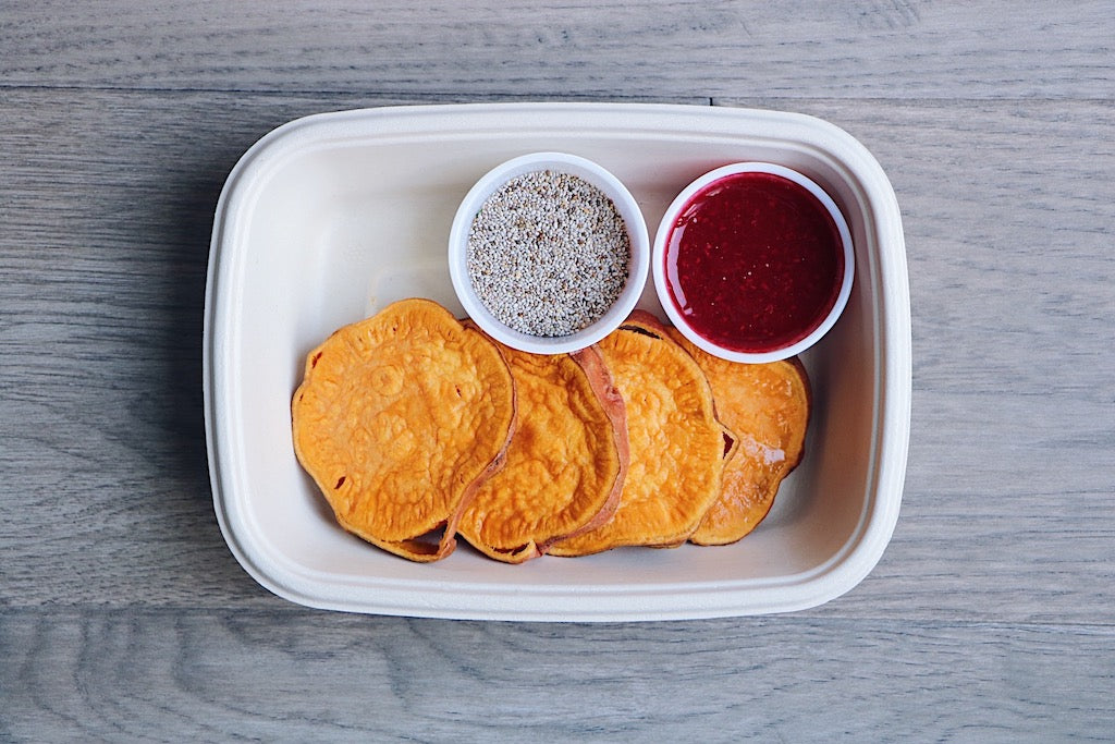 Sweet Potato Toast (Wednesday) - Gluten Free Breakfast & Snack - Honey Bee Meals | Toronto Meal Delivery Service