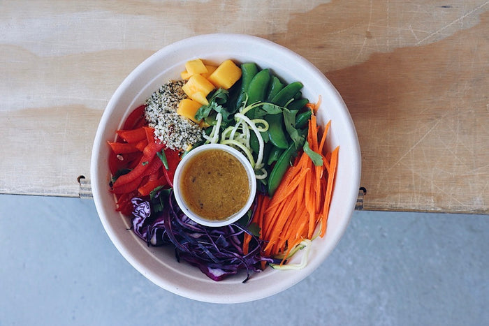 Rainbow Thai Salad (Sunday) - Vegetarian Meal - Honey Bee Meals | Healthy Prepared Meals & Food Delivery Toronto