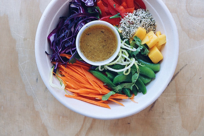 Rainbow Thai Salad (Sunday) - Plant-Based Meal - Honey Bee Meals | Fresh Food Delivery Service Toronto