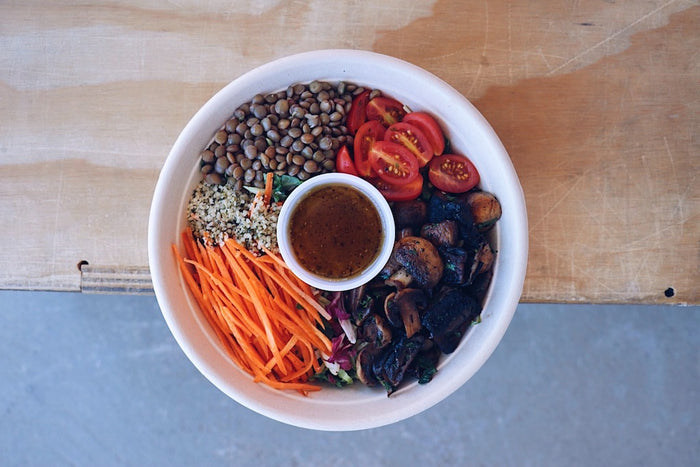 Mushroom Power Bowl (Wednesday) - Vegetarian Meal - Honey Bee Meals | Healthy Prepared Meals & Food Delivery Toronto