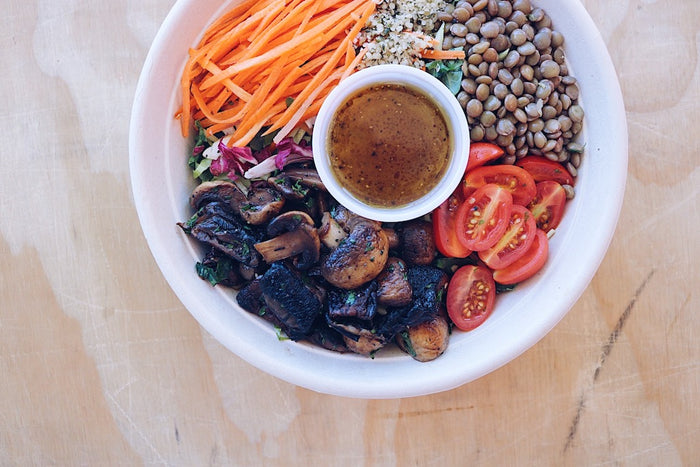 Mushroom Power Bowl (Wednesday) - Plant-Based Meal - Honey Bee Meals | Fresh Food Delivery Service Toronto