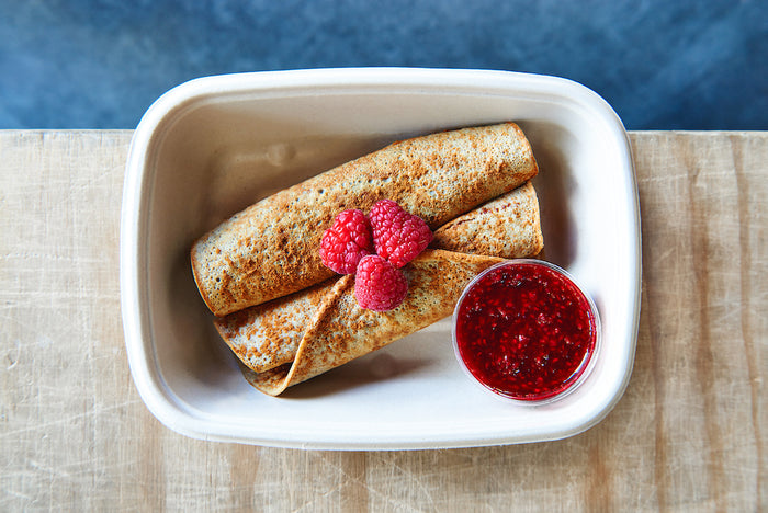 Pancake Roll-ups (Sunday) - Healthy Breakfast & Snack - Honey Bee Meals | Healthy Prepared Meals & Food Delivery Toronto