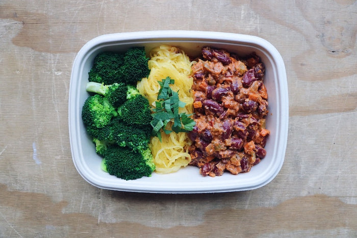 Bangin' Bean Bolognese (Sunday) - Plant-Based Meal - Honey Bee Meals | Fresh Food Delivery Service Toronto