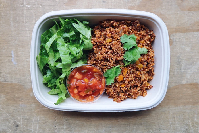 Mexican Quinoa Tacos (Wednesday) - Vegetarian Meal - Honey Bee Meals | Healthy Prepared Meals & Food Delivery Toronto
