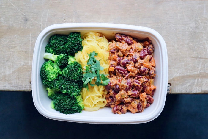 Bangin' Bean Bolognese (Sunday) - Vegetarian Meal - Honey Bee Meals | Healthy Prepared Meals & Food Delivery Toronto