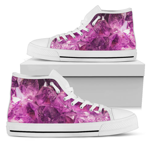 Pink Crystal High Tops