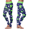 Seattle Ugly Christmas Random Football Leggings
