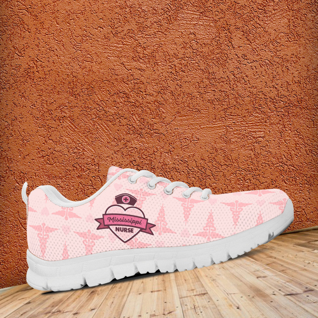 MS Nurse Pink Running Shoes