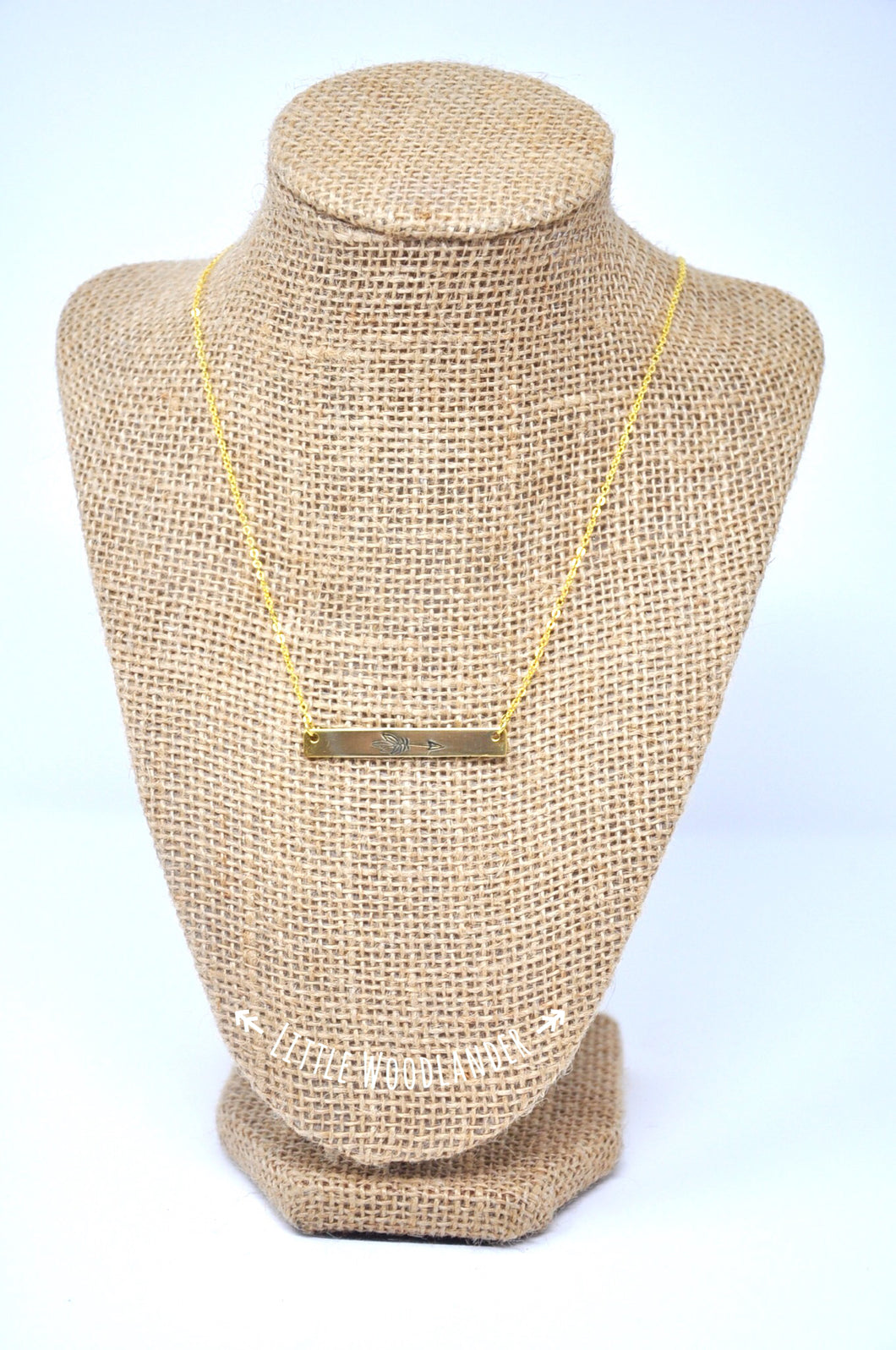 Brass Bar Arrow Necklace