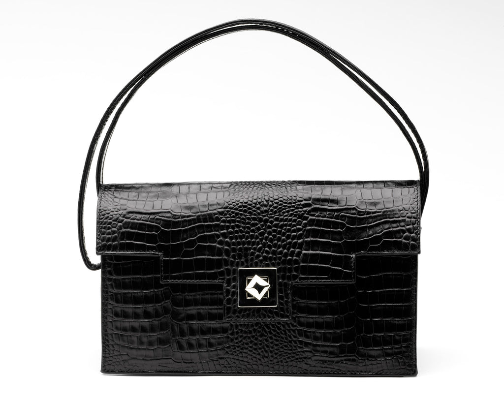 Quoin Medium Handbag in Black