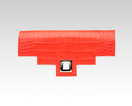 Quoin Medium Handbag Flap - Red