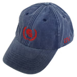 Skull & Wreath Blue Denim Cap