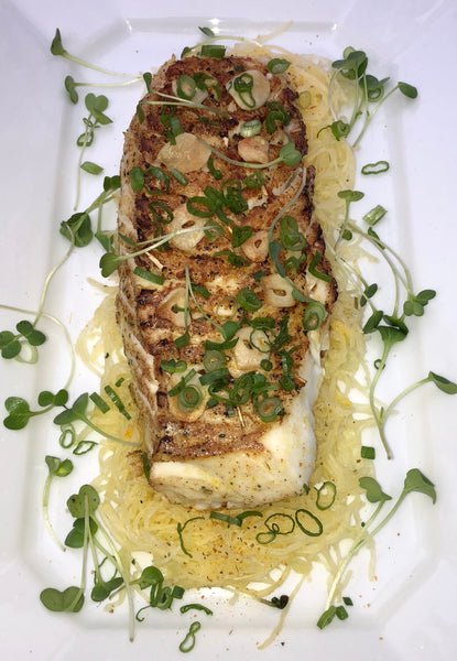 Pan Roasted Cod Loin with Spaghetti Squash