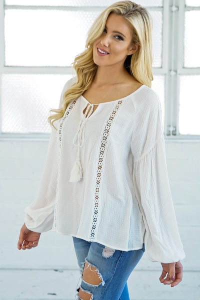 Casual Puff Sleeve Top