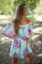 Floral Flounse Dress