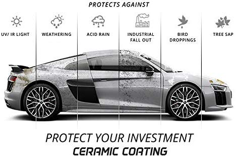 Ceramic Coating - Protective Hydrophobic Weatherproof Sealant For Cars - Nano Technology - 9H Hardness - Clear, High-Gloss Shine - 16 Ounces