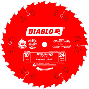 Diablo D1024X 10 in. x 24 Tooth Carbide Circular Saw Blade