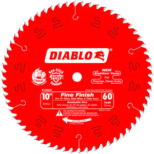 Diablo D1060X 10 in. x 60 Tooth Fine Finish Saw Blade