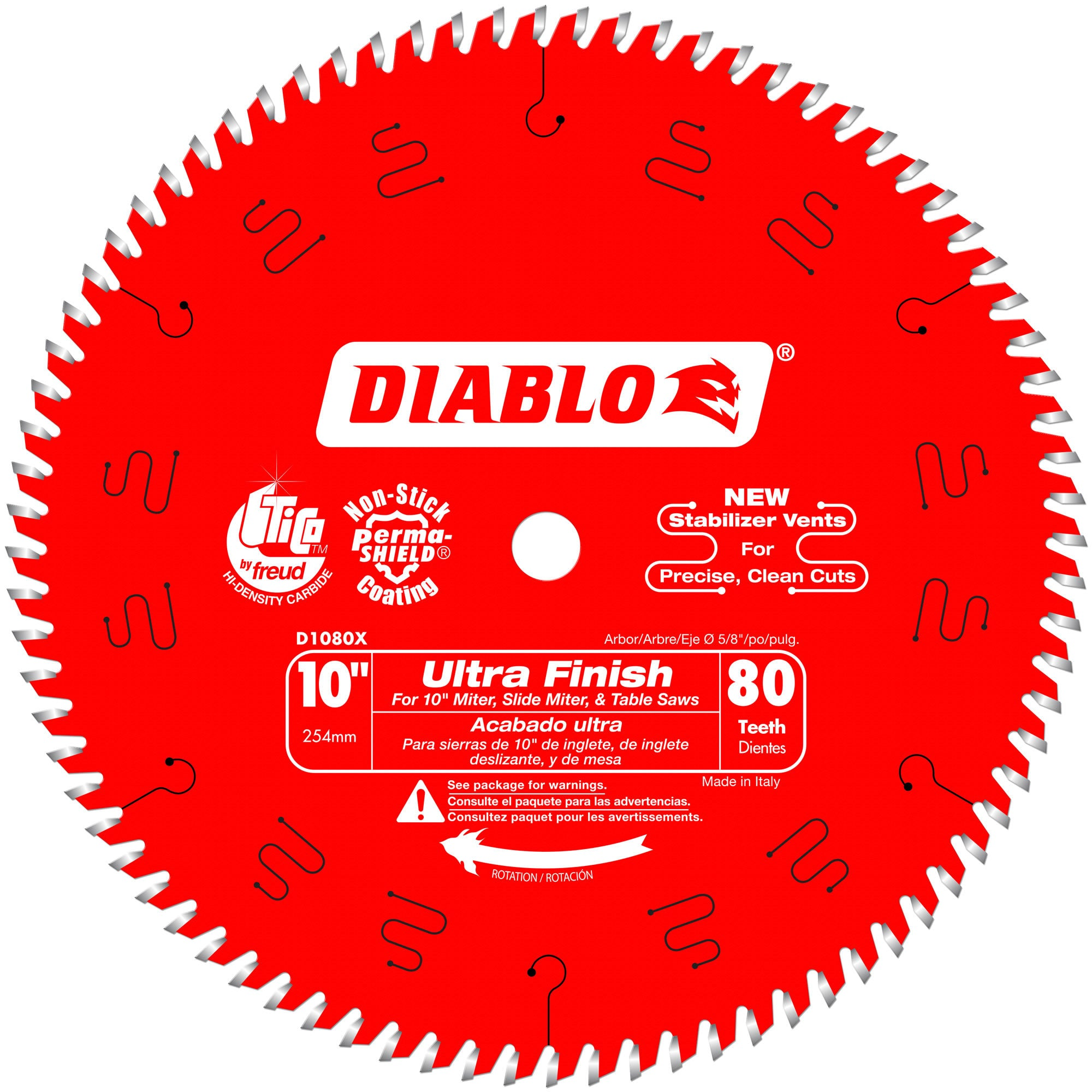 Diablo D1080X 10 in. x 80 Tooth Carbide Circular Saw Blade