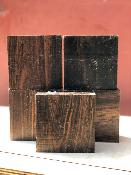 "Bocote 3"" x 6"" x 6"" Turning Blank- Pack of 2"