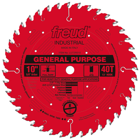 "Freud LU72R010 10"" General Purpose Blade"