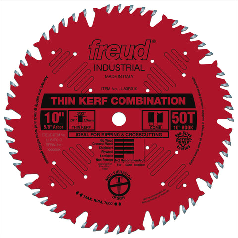 "Freud LU83R010 10"" Thin Kerf Combination Blade"
