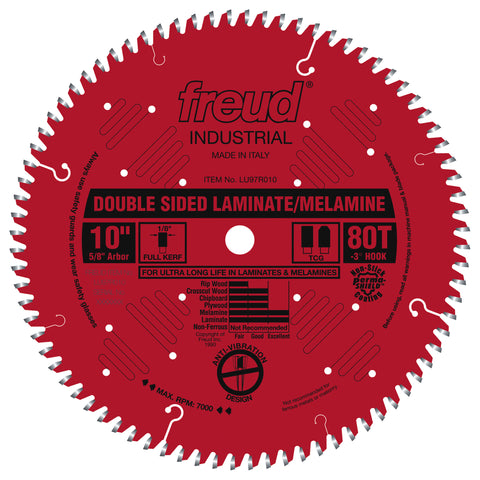 "Freud LU97R010 10"" Double Sided Laminate/Melamine Blade"