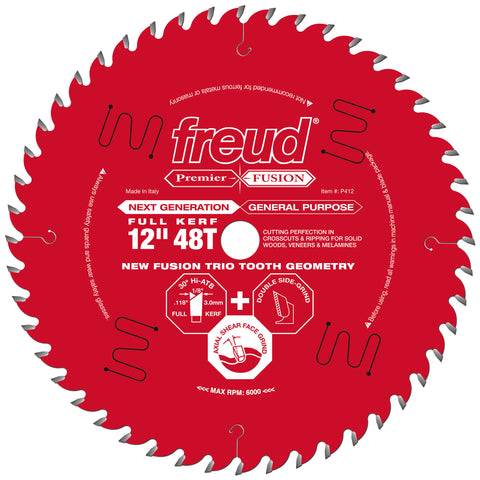 "Freud P412 12"" Next Generation Premier Fusion General Purpose Blade"