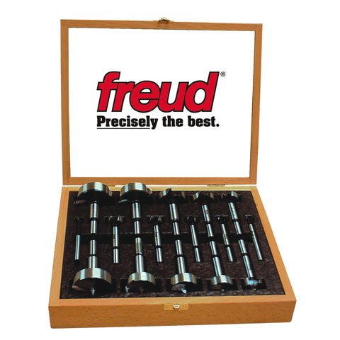 Freud PB-100 16 Pcs. Precision Shearª Serrated Edge Forstner Drill Bit Set 1/4-Inch to 2-1/8-Inch