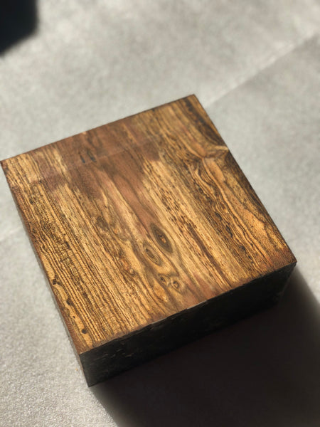 "Bocote 3"" x 6"" x 6"" Turning Blank"