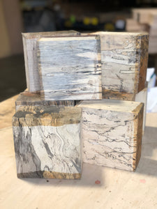 "Spalted Tamarind Turning Blank 3"" x 6"" x 6"" - Pack of 2"