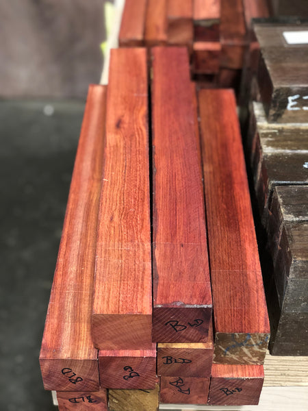 "Bloodwood 2"" x 2"" x 18"" Turning Blank - Pack of 2"