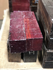 Purpleheart 3 x 3 x 12 Turning Blank - Pack of 2