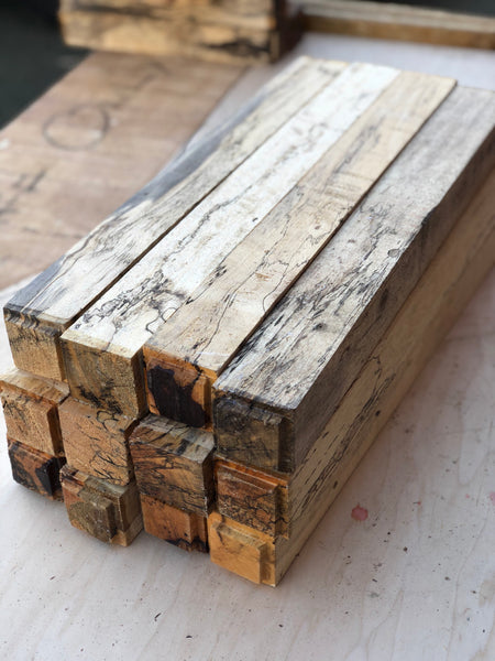 "Spalted Tamarind 2"" x 2"" x 18"" Turning Blank - Pack of 2"