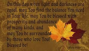 Autumnal Equinox Blessing