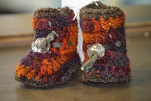 Handcrafted 100% Wool Booties