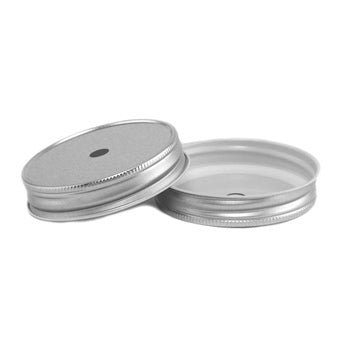 Greenmunch Metal Mason Jar Lid with Straw Hole - Regular