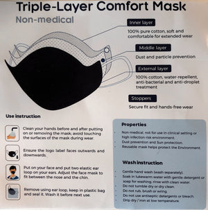100% Cotton Face Masks (pkg of 2)