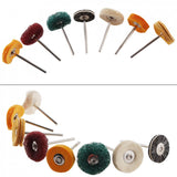 12Pcs Polisher Buffer Wheels Polishing Buffing Pad Brush For Rotary Drill Bit