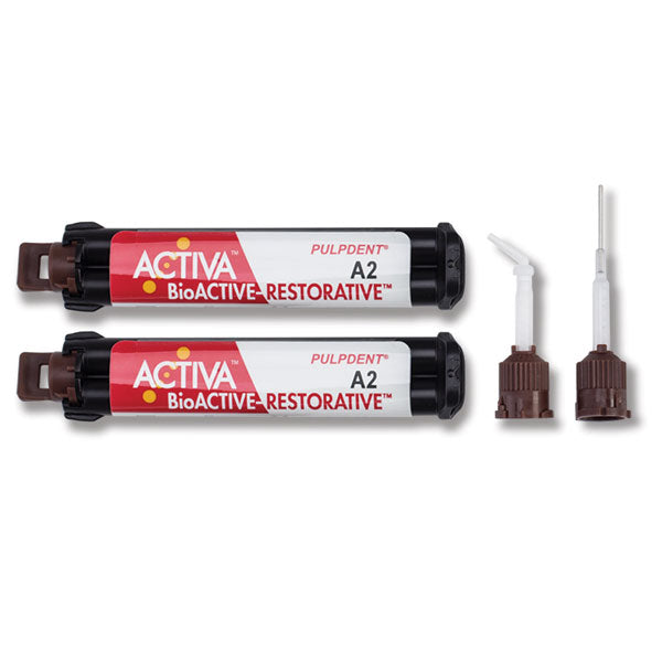 Activa Bioactive Dental Restorative, A2 Value Refill: 2 - 5ml/8g Syringes