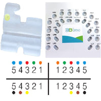 TOL 3B Dental Ceramic Brackets 0.022, MBT Hooks on 3,4,5, Package of 20