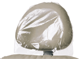 "Defend Clear Plastic Headrest Covers 11"" X 9 1/2"" X 2"" (250/bx)"