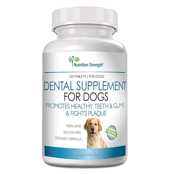 Nutrition Strength Dental Care for Dogs, Daily Supplement for Healthy Dog Gums and Teeth, 120 Chewable Tablets