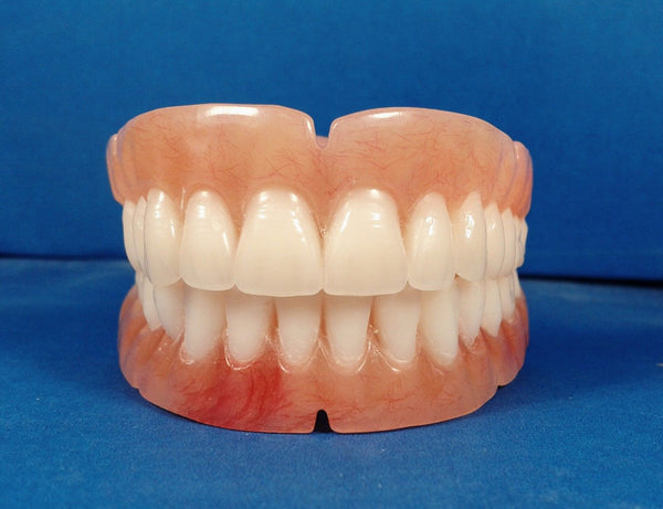 Dentures, Full Set of False Teeth with Hollywood Bleach Shade Teeth