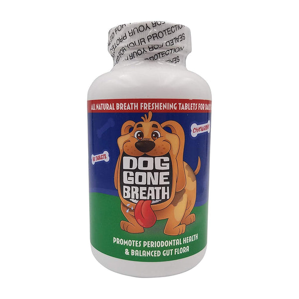 Dog Gone Breath All-Natural, Chewable Breath Freshening Treat for Daily Use (30-120 Tablets)