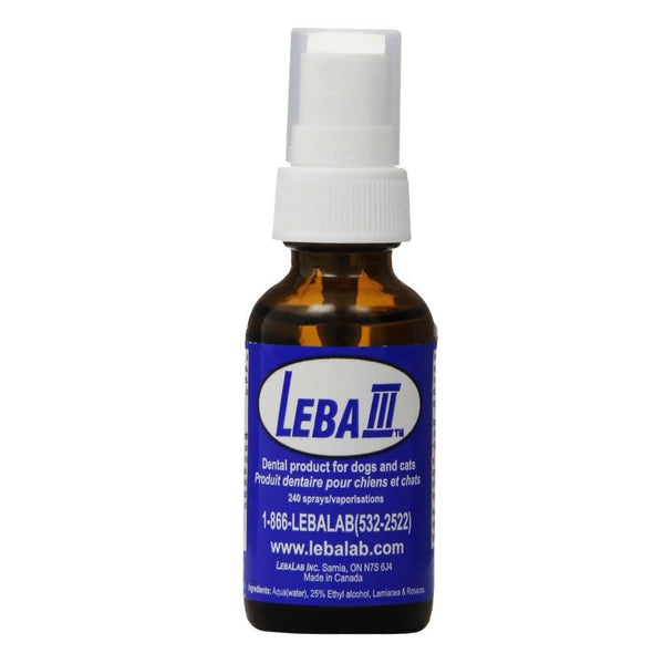 Lebalab Leba III, 1oz Dental Spray Pet Canine Feline Dog/Cat Tartar Control