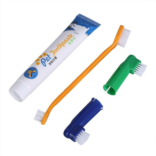 Pet Oral Dental Care Toothbrush Toothpaste for Dog and Cat Fresh Breath Finger Brush