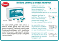 Richwil Adhesive Resin Crown and Bridge Remover, box of 50 removers